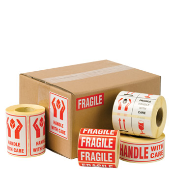 Logistics Shipping Labels - Fragile, Handle With Care