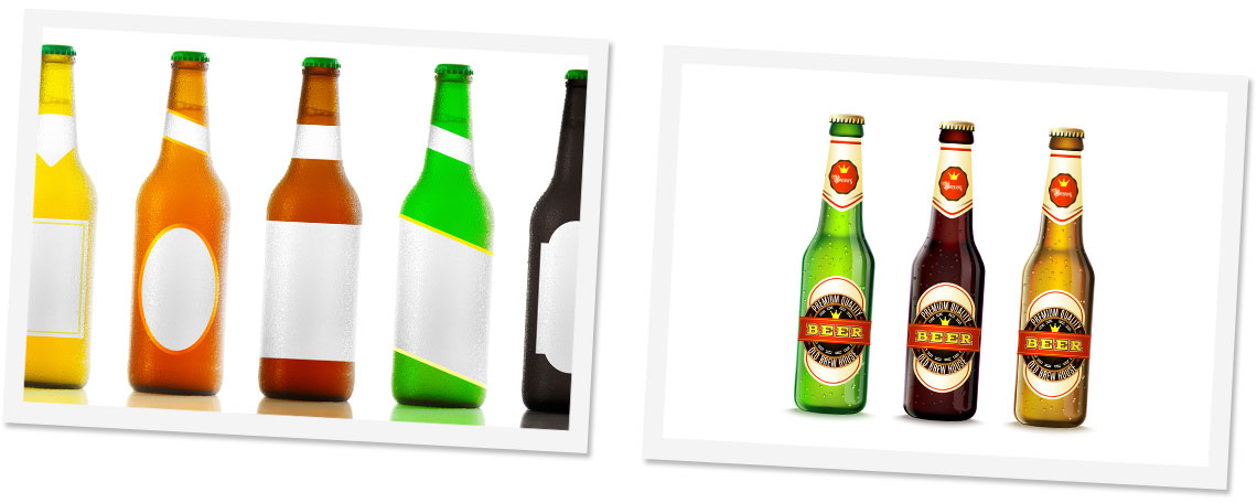 Lower Image - Self Adhesive Drinks and Bottle Labels
